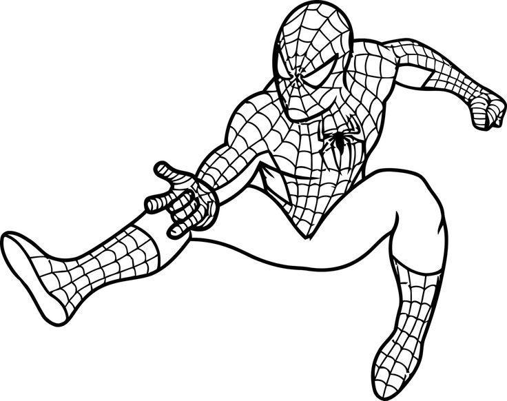 Dibujos Spiderman Para Colorear E Imprimir: Spiderman-colorear-6