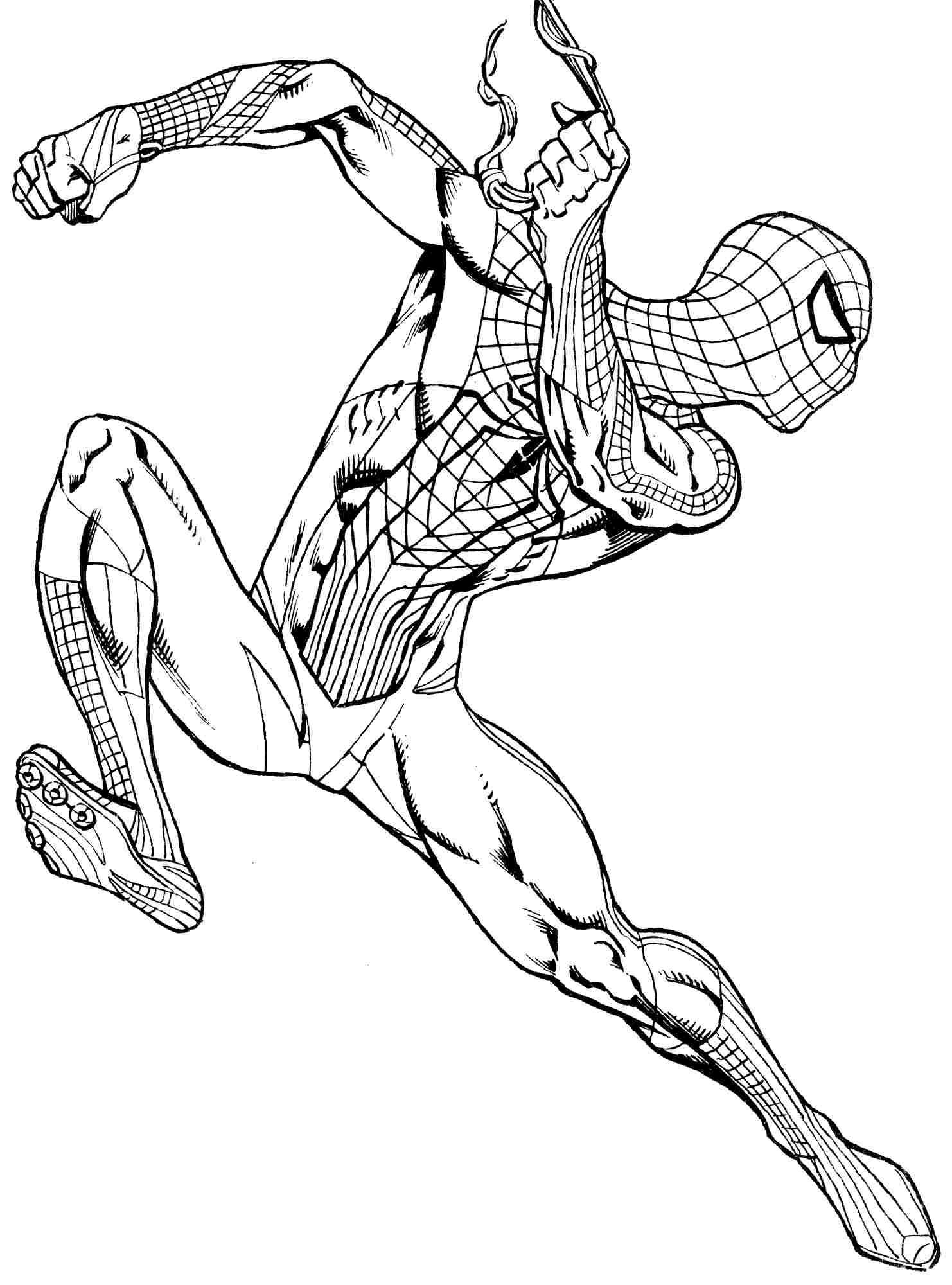 Venom Coloring Pages Lego Venom Spider Marvel Heroes: Spiderman-colorear-7